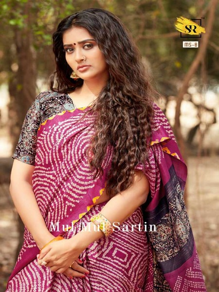 Classic Look Pink Color Pure Sattin Silk With Floral Print Saree