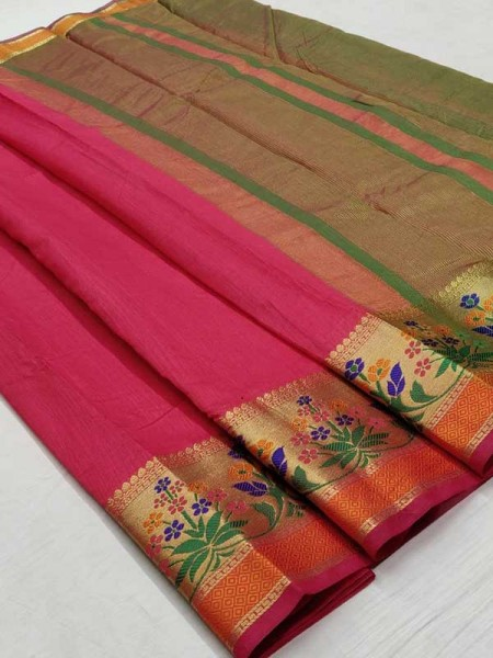Bollywood Look Pink Color Silk weaving Saree