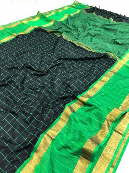 Wedding Designer Black  Color Pure Soft Silk Upada Saree