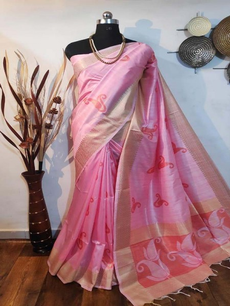 Stunning Look Multi Colour Soft mulberry silk weaving saree with exclusive zari woven butta