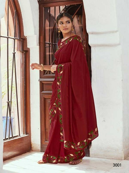 Wedding Designer Red Color Soft Silk with Resham Embroidery