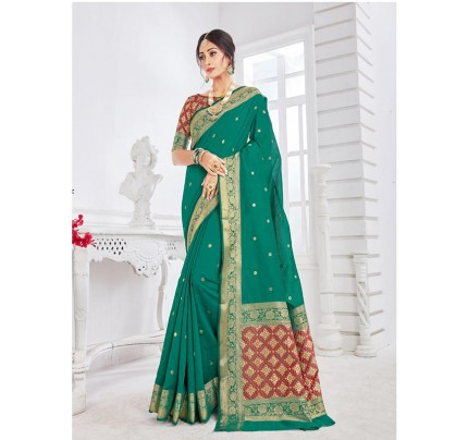 New Trending Green Colour Soft Weaving Cotton With Patola pallu