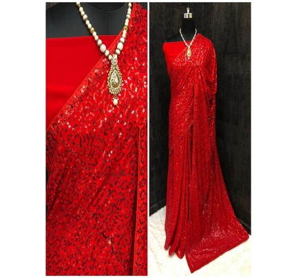 Celebrity Style Georgette Saree with Sequence work