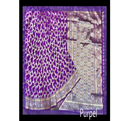 Festival Look Purple color Pure Jacquard Resham zari work Saree