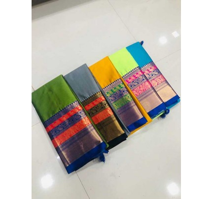 Rich Cotton Saree(5 -peice set)