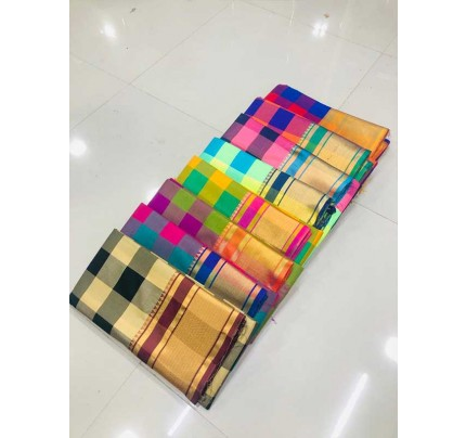 Rich Cotton Saree(8 -peice set)