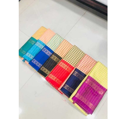 Rich Cotton Saree(7 -peice set)
