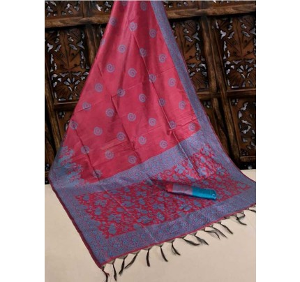 New Eye Catcher Pink Color Handloom Raw Silk Saree With  Weaves Saree