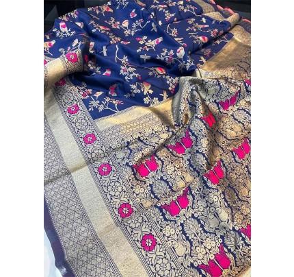 Pretty Look Banasari Silk Saree with Meenakari work