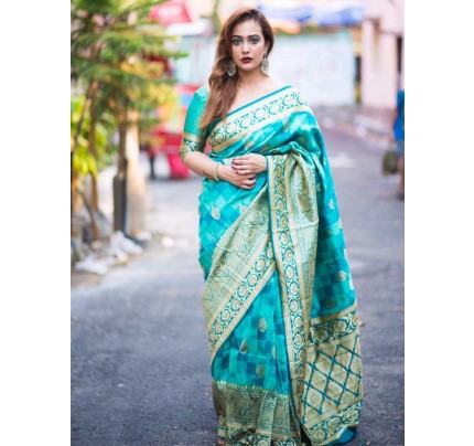 Banarasi Silk saree(6 peice set)