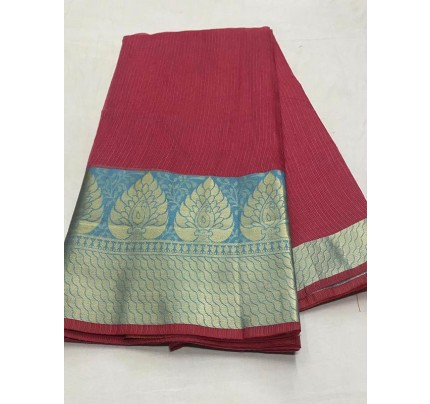 Stunning Look Pink Color Dola Dodiya Cotton Silk Saree