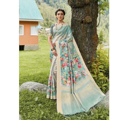 New Eye Catcher Multi Color Soft Silk Digital Printed Saree