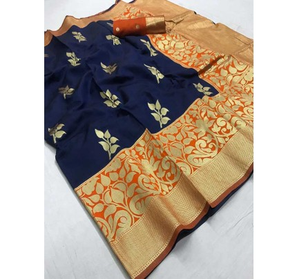 Wedding Designer Multi Color pure silk weaving Saree
