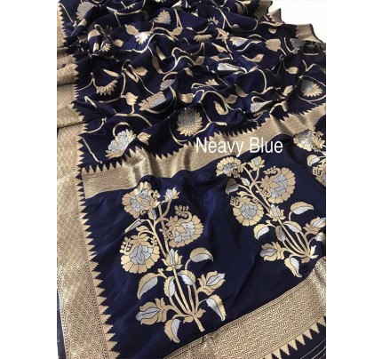 Married Season neavy Blue  Soft Weaving Silk Saree