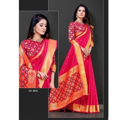 Chanderi Cotton Saree (7 peice set)