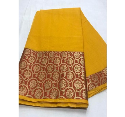Stunning Look Multi Color Dola Dodiya Cotton Silk Saree
