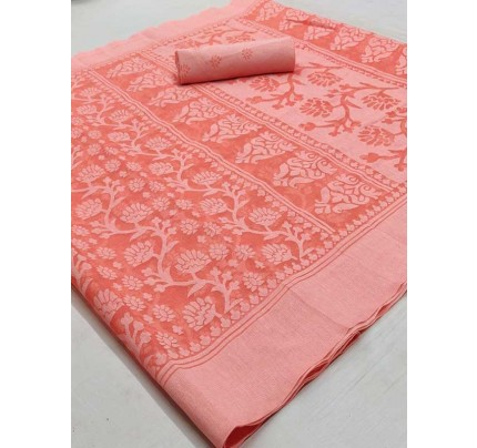 Beautiful Pink Color Chiffon Fabric  Saree with Blouse