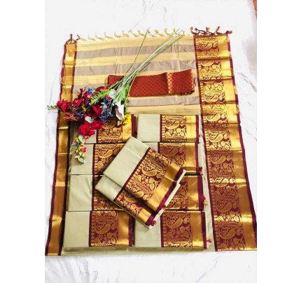 Beautiful Pure  Cotton Silk Saree