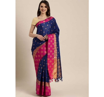 Stylearray Present  Blue Colour  Kanjeevaram Woven Design  Saree