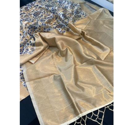 Stunning Look Multi Color Silk Saree with Elegant Pallu