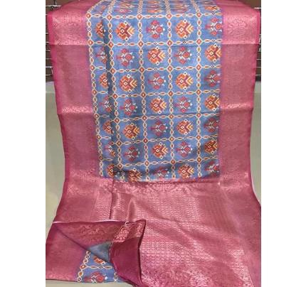 Elegance  Multi Colour Munga Weaving Digital Printed  Saree