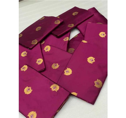Attractive Look Purple Color Bollywood Wear Banarasi Silk  Mina Work Saree