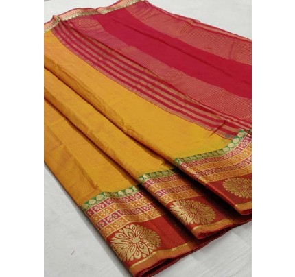 Bollywood Look Orange Color Silk weaving Saree