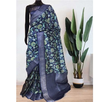 Beautiful  Multi Colour Munga Weaving Silk Saree