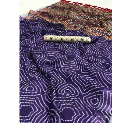 Wedding Style Multi Color Soft Linen Digital Printed Saree