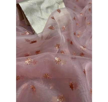 Fresh Arrival Pure Organza Silk Saree with Sequencing multi butti work
