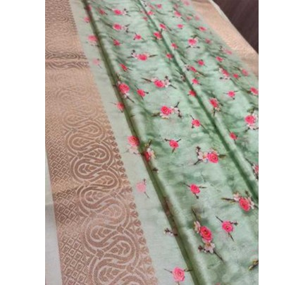 Elegance  Multi Colour Munga Weaving Silk Saree