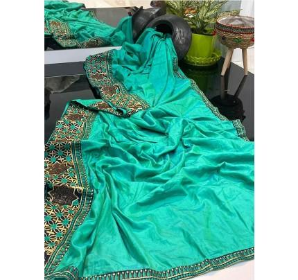 Classic Look Sana Silk Saree with Hotflix diamond work