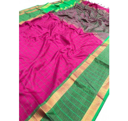 Wedding Designer Pink  Color Pure Soft Silk Upada Saree