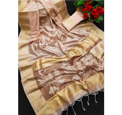 Soft Mulberry Silk Weaving Saree With Exclusive Zari Woven