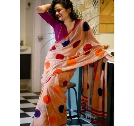 Amazing Stylish Chanderi Digital Printed Saree with Banglori Satin Blouse