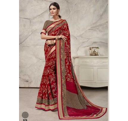 Stunning Multi Color  Linen Saree With Border Concept