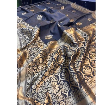 Superb Trending Soft Silk weaving Saree with Rich pallu & beautiful Butta