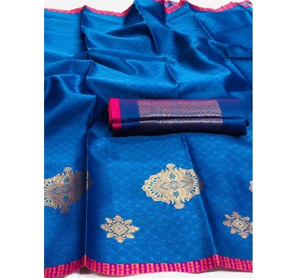 Unique Style Multi Color Silk Weaving Saree