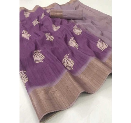 Wedding Designer Purple Color Pure Winter silk with Digital Print