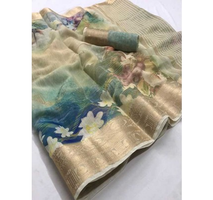 Winter Special Multi Colour  Cotton With Digital Print Saree