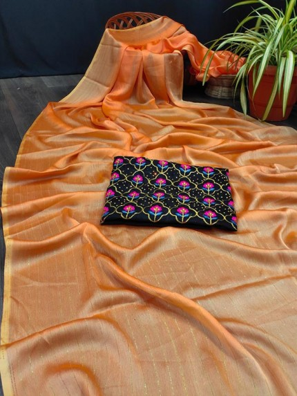 Fancy Look Rembo Zari Saree with Blouse