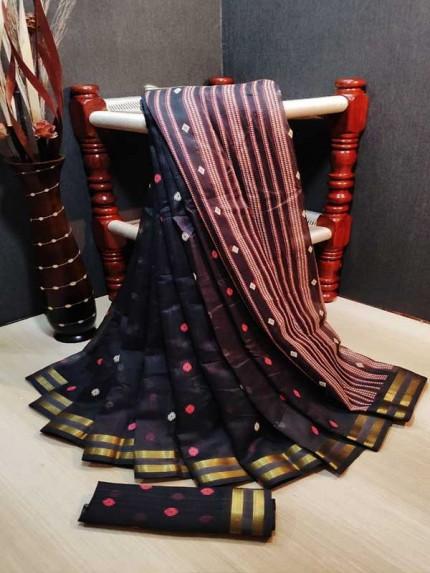Trending Multi Colored Beautiful Organza Digital Printed Saree