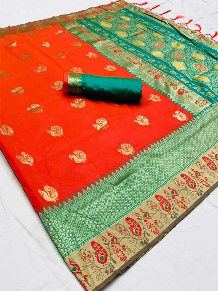 Classic Soft Cotton Silk Saree with Beautiful weaving Border