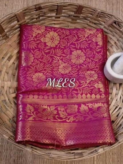 Wedding Designer Maroon Color Pure Silk weaving Saree