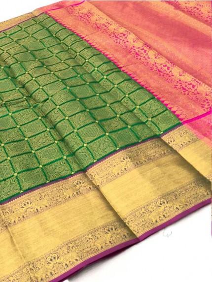 Attractive Look Green Colour Banarasi Silk With Beautiful Zari  Work