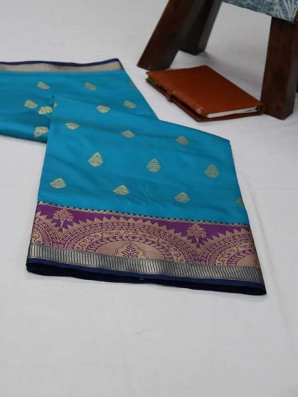 Married Season SkyBlue  Color Soft Weaving Silk Saree
