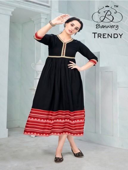 Black Colour Heavy 14kg Rayon  With Rayon Print And Gotapatti Lace Border