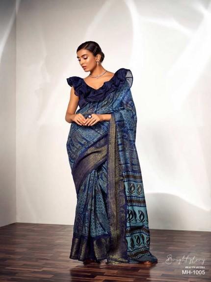 Elegance Look Multi Colored Pure Handlooms Maheshwari Antique Kanchi Border