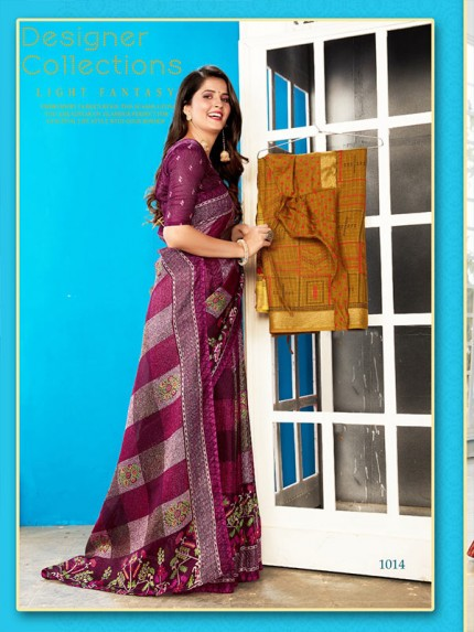 Modern Look Linen Saree