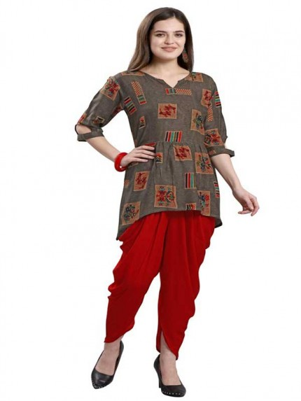 Summer Special Multi color Fancy Top With Tulip Patiala
